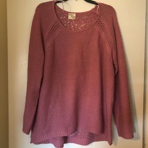 Rose colored sweater